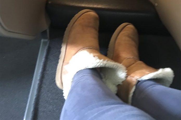 Ugg boots and track pants